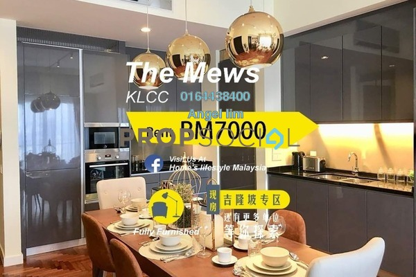 For Rent Condominium at The Mews, KLCC Freehold Fully Furnished 3R/2B 7k
