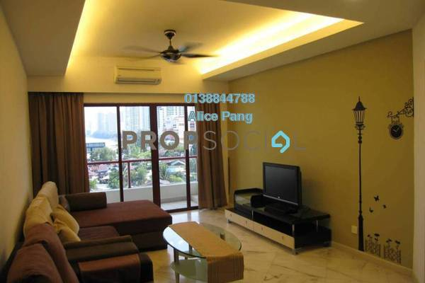 For Rent Condominium at Marina Bay, Tanjung Tokong Freehold Fully Furnished 3R/3B 2.5k
