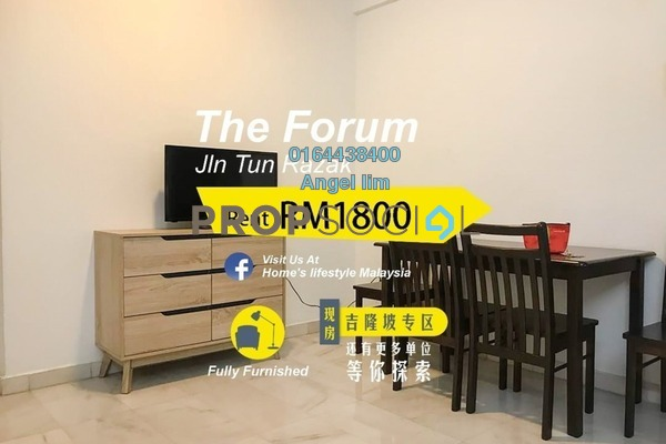 For Rent Condominium at The Forum, KLCC Freehold Fully Furnished 2R/2B 1.8k