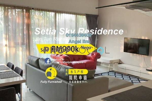 For Sale Condominium at Setia Sky Residences, KLCC Freehold Fully Furnished 2R/2B 990k