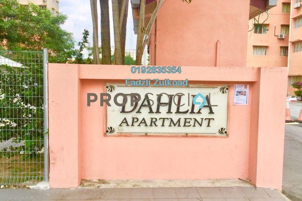 For Sale Apartment at Dahlia Apartment, Setapak Leasehold Unfurnished 3R/2B 330k