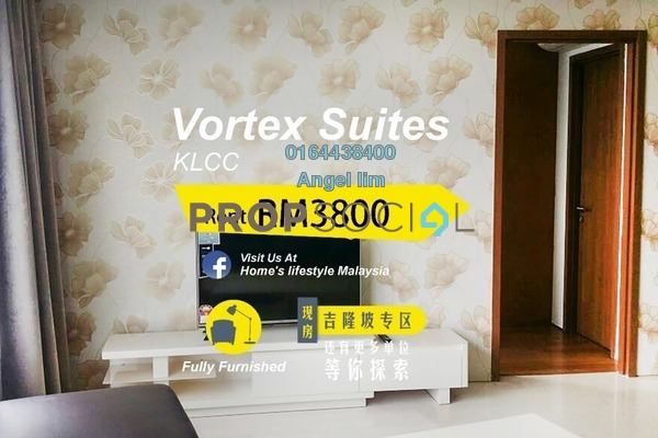 For Rent Condominium at Vortex Suites & Residences, KLCC Freehold Fully Furnished 3R/2B 3.8k
