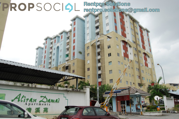 For Rent Apartment at Aliran Damai, Cheras South Freehold Unfurnished 3R/2B 1.05k