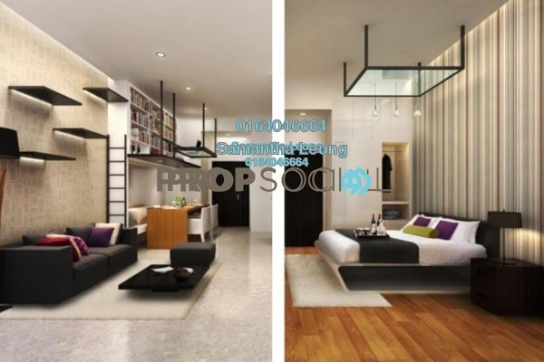 For Sale Condominium at Uptown Residences, Damansara Utama Freehold Semi Furnished 3R/2B 700k