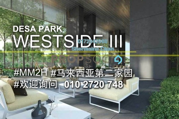 For Sale Condominium at The Westside Three, Desa ParkCity Freehold Semi Furnished 2R/2B 1.06m