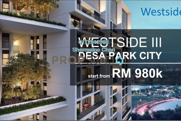 For Sale Condominium at The Westside Three, Desa ParkCity Freehold Semi Furnished 2R/2B 980k