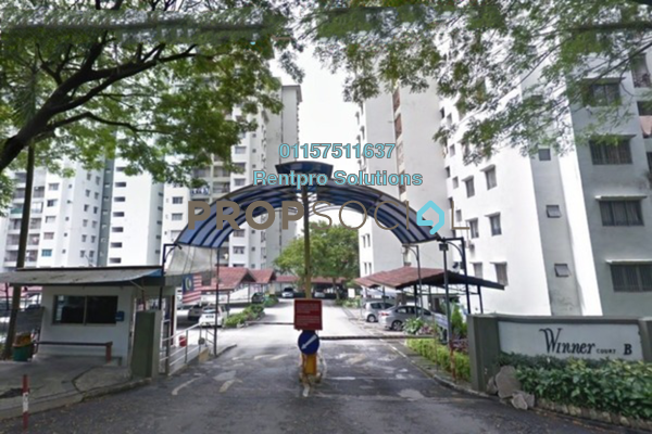 For Rent Apartment at Winner Court B, Desa Petaling Freehold Semi Furnished 3R/2B 1.4k