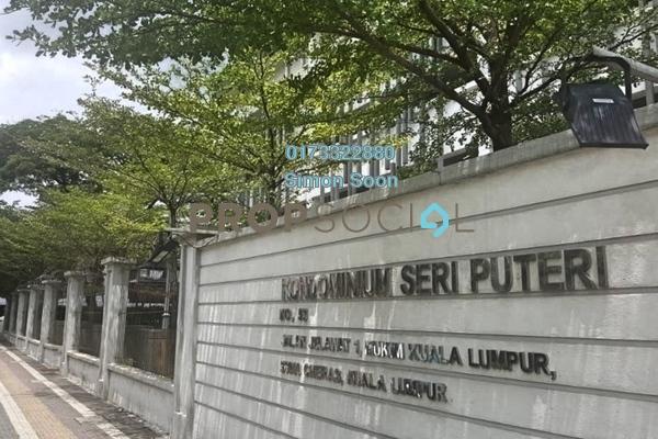 For Rent Condominium at Seri Puteri, Bandar Sri Permaisuri Freehold Fully Furnished 3R/2B 1.88k