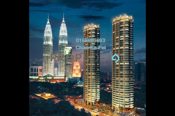 For Sale Condominium at The Oval, KLCC Freehold Fully Furnished 5R/5B 7.78m