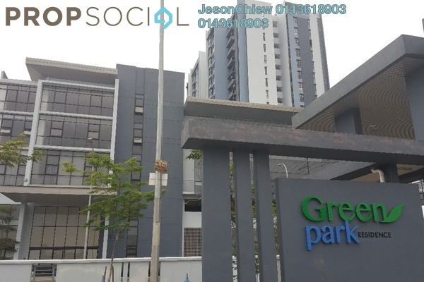 For Rent Serviced Residence at Green Park, Seri Kembangan Freehold Semi Furnished 3R/2B 1k
