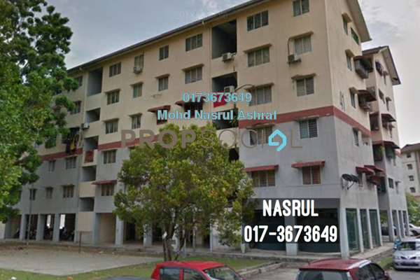For Sale Apartment at Section 7, Shah Alam Freehold Semi Furnished 3R/2B 220k
