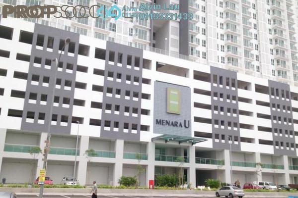 For Rent Condominium at Menara U2, Shah Alam Freehold Semi Furnished 2R/1B 1.2k