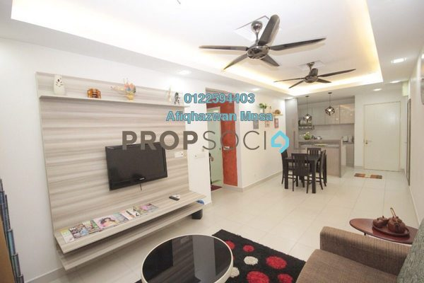 For Sale Apartment at Seri Jati Apartment, Setia Alam Freehold Fully Furnished 3R/2B 350k