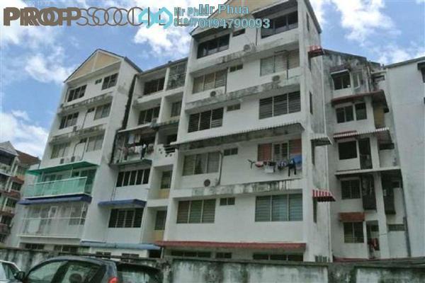 For Sale Condominium at Taman Lip Sin, Sungai Nibong Freehold Semi Furnished 3R/2B 365k