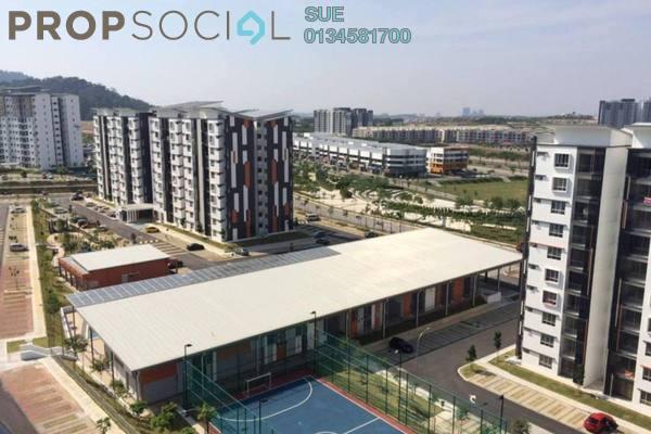 For Rent Apartment at Seri Kasturi, Setia Alam Freehold Semi Furnished 3R/2B 1.1k
