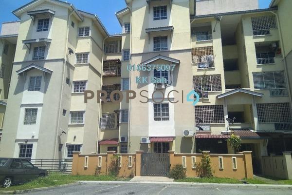 For Sale Apartment at Bandar Botanic, Klang Freehold Semi Furnished 3R/2B 280k