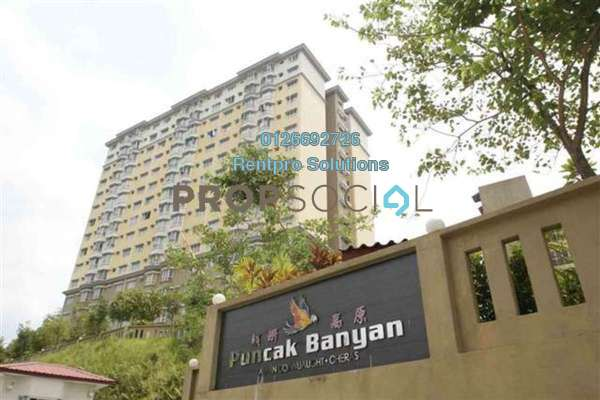 For Rent Apartment at Puncak Banyan, Cheras Freehold Unfurnished 3R/2B 1.2k