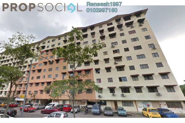 For Sale Apartment at Taman Aman Putra, Jinjang Freehold Semi Furnished 3R/2B 185k