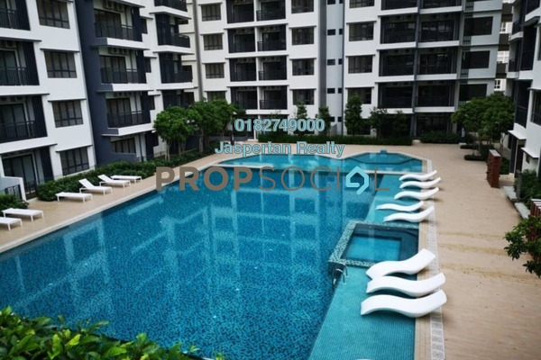 For Sale Condominium at Suria Residence, Bukit Jelutong Freehold Semi Furnished 2R/1B 431k