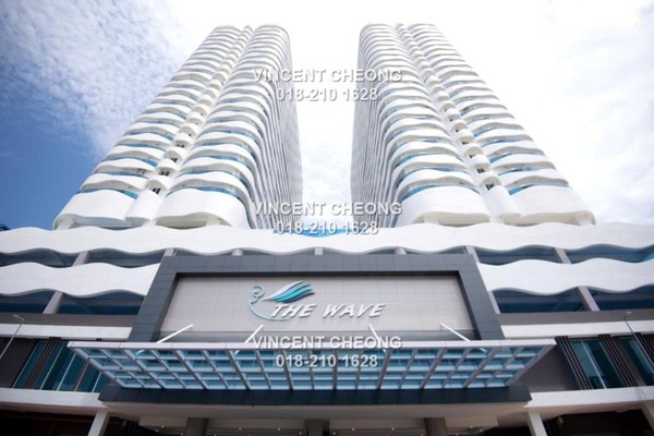 For Sale Serviced Residence at The Wave Residence, Melaka Freehold Semi Furnished 2R/1B 320k