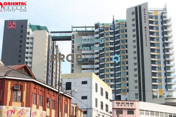 For Rent Condominium at The Majestic, Ipoh Freehold Fully Furnished 2R/2B 2.1k