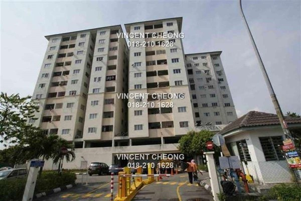 For Sale Apartment at Intan Apartment, Puchong Freehold Semi Furnished 3R/2B 180k