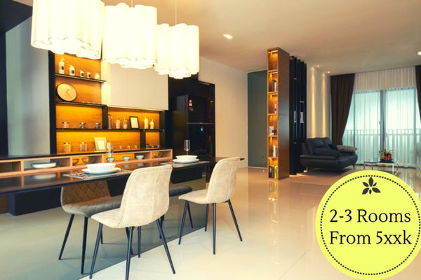 For Sale Serviced Residence at AraTre' Residences, Ara Damansara Freehold Semi Furnished 2R/2B 520k
