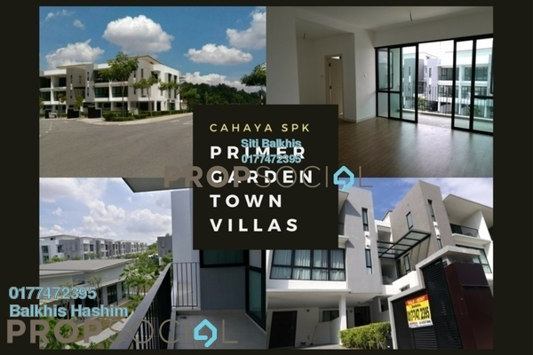 For Sale Townhouse at Primer Garden Town Villas, Cahaya SPK Leasehold Unfurnished 3R/4B 950k