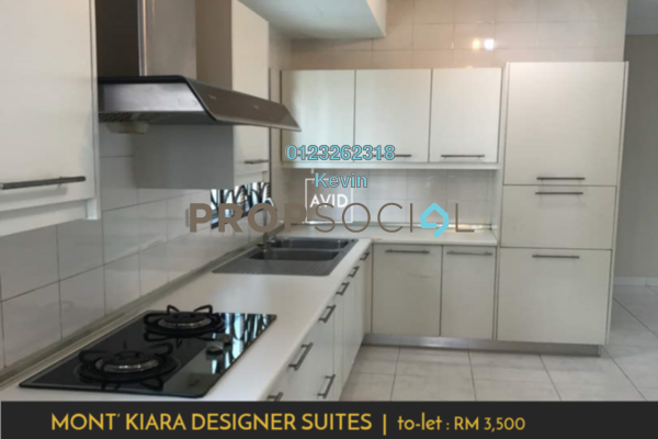 For Rent Condominium at Kiara Designer Suites, Mont Kiara Freehold Fully Furnished 3R/3B 3.5k