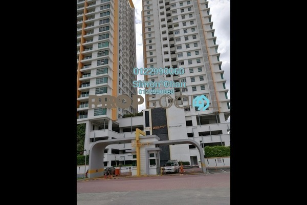 For Sale Serviced Residence at The Zest, Bandar Kinrara Freehold Semi Furnished 3R/2B 550k