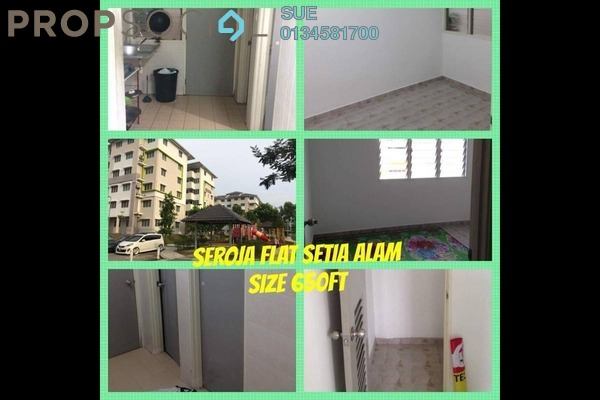 For Rent Apartment at Seroja Apartment, Setia Alam Freehold Unfurnished 3R/2B 700translationmissing:en.pricing.unit