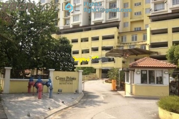 For Rent Condominium at Casa Prima, Kepong Freehold Unfurnished 3R/2B 1.2k