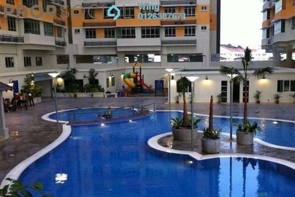 For Rent Condominium at Mutiara Anggerik, Shah Alam Freehold Semi Furnished 4R/2B 1.3k