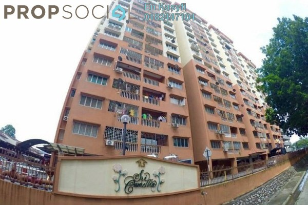 For Sale Apartment at Sri Camellia Apartment, Kajang Freehold Semi Furnished 3R/2B 268k