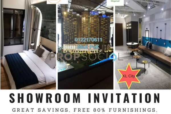 For Sale Serviced Residence at Millerz Square, Old Klang Road Freehold Semi Furnished 1R/1B 431k