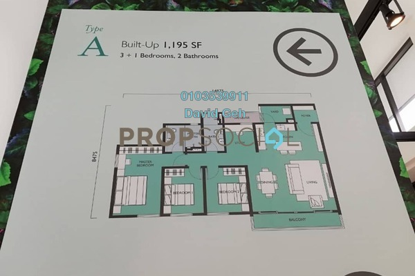 For Sale Condominium at Emerald Hills, Alam Damai Freehold Unfurnished 2R/2B 547k