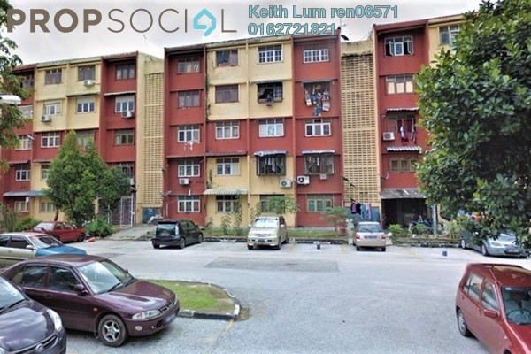 For Sale Apartment at Section 19, Shah Alam Freehold Unfurnished 2R/1B 150k