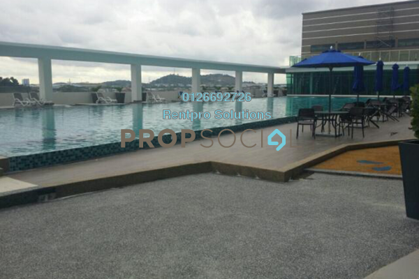 For Rent Condominium at Amerin Mall & Residence, Balakong Freehold Semi Furnished 2R/2B 1.25k