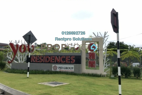 For Rent Condominium at You Residences @ You City, Batu 9 Cheras Freehold Semi Furnished 3R/2B 1.5k