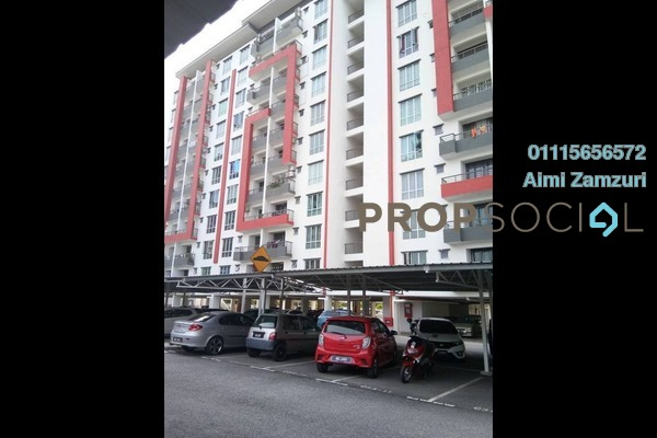 For Sale Apartment at Green Suria Apartment, Bandar Tun Hussein Onn Freehold Semi Furnished 3R/2B 340k