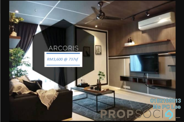 For Rent Condominium at Arcoris, Mont Kiara Freehold Fully Furnished 1R/1B 3.6k
