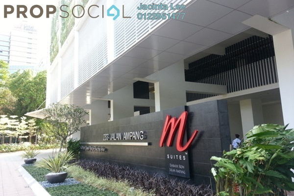 For Sale Serviced Residence at M Suites, Ampang Hilir Freehold Semi Furnished 1R/1B 462k