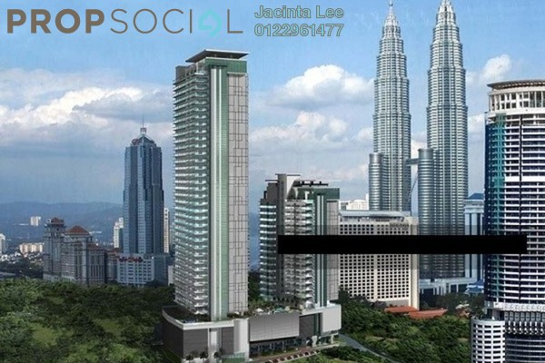 For Sale Serviced Residence at 188 Suites, KLCC Freehold Semi Furnished 0R/1B 559k