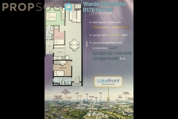 For Sale Condominium at LakeFront Residence, Cyberjaya Freehold Unfurnished 3R/2B 396k