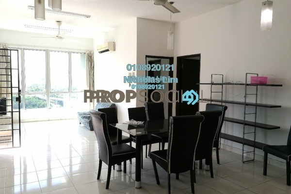 For Sale Condominium at Casa Tiara, Subang Jaya Freehold Fully Furnished 3R/2B 550k