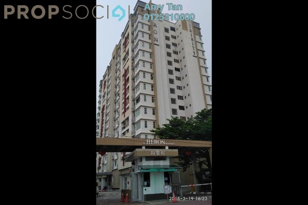 For Sale Serviced Residence at The Heron Residency, Puchong Freehold Semi Furnished 3R/1B 292k