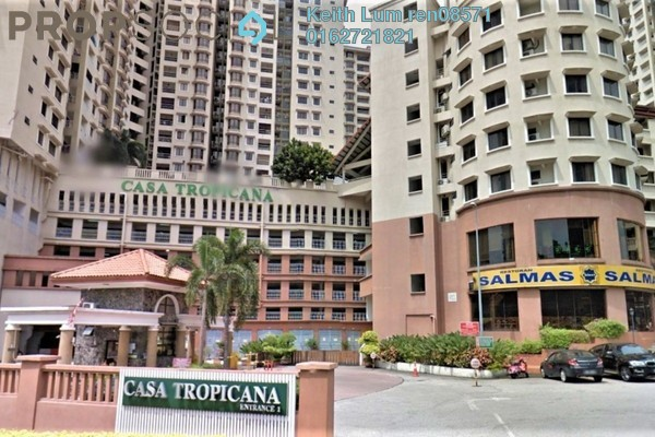 For Sale Condominium at Casa Tropicana, Tropicana Freehold Semi Furnished 3R/3B 750k
