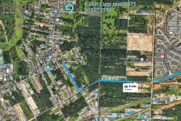 For Sale Land at Section 36, Shah Alam Freehold Unfurnished 0R/0B 1.57m