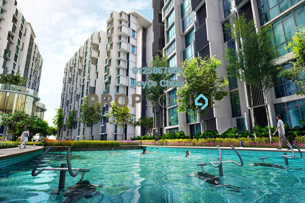 For Sale Condominium at H2O Residences, Ara Damansara Freehold Semi Furnished 1R/1B 389k