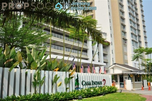 For Sale Condominium at Casa Indah 2, Tropicana Freehold Fully Furnished 2R/2B 790k